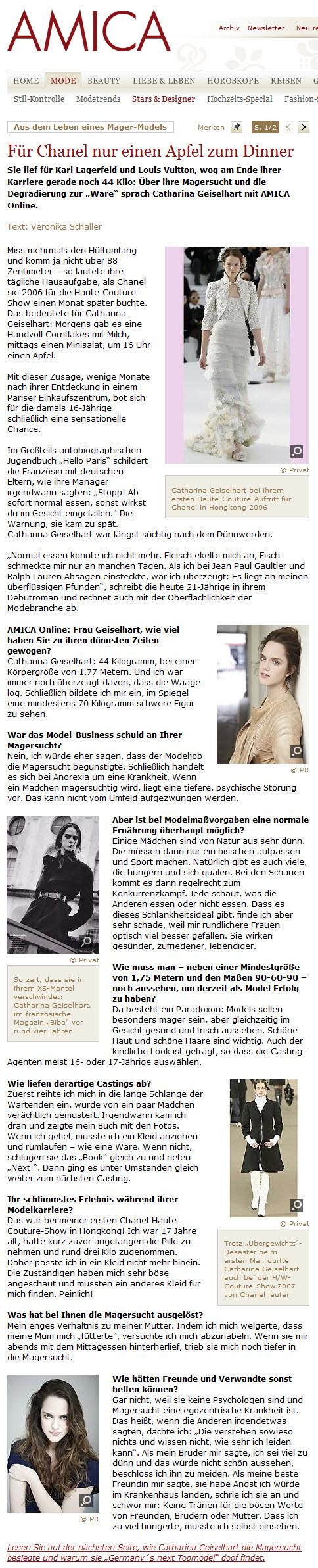 Amica Interview Teil 1