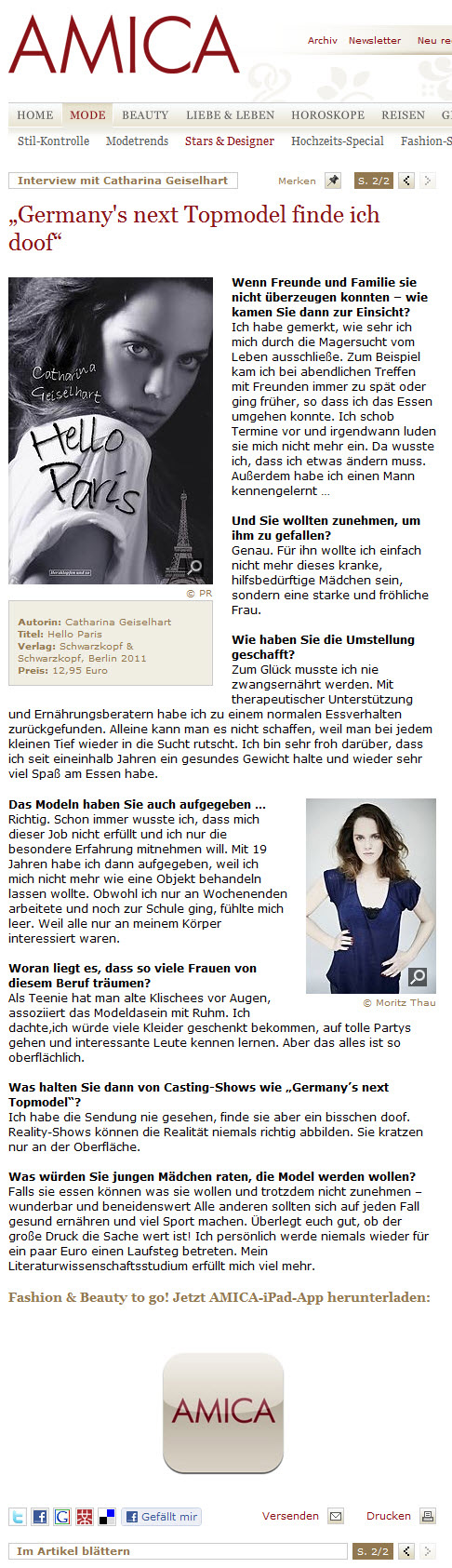 Amica Interview Teil 2