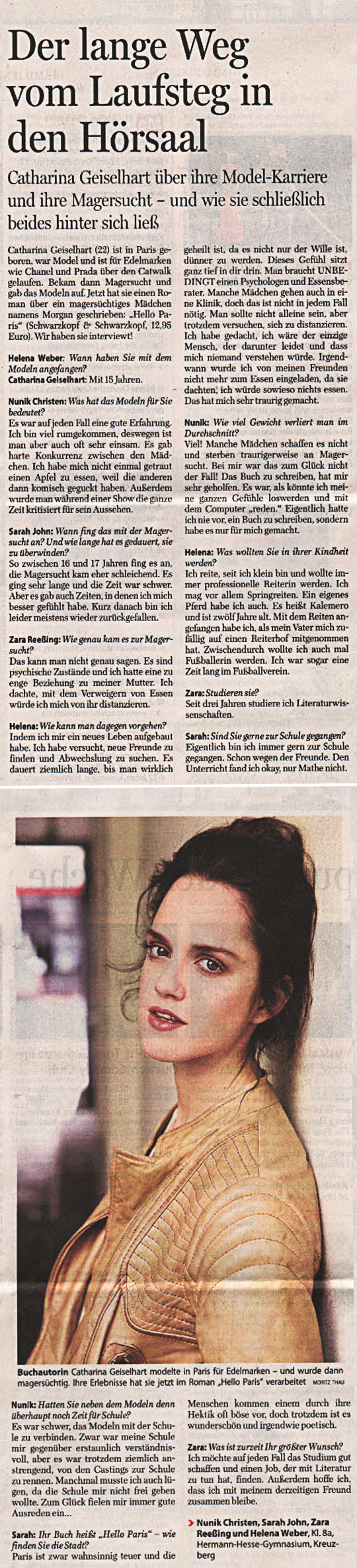 Interview in der Berliner Morgenpost vom 31.10.2011