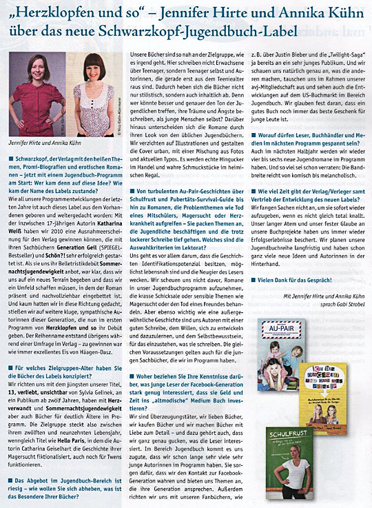 Interview Eselsohr Magazin