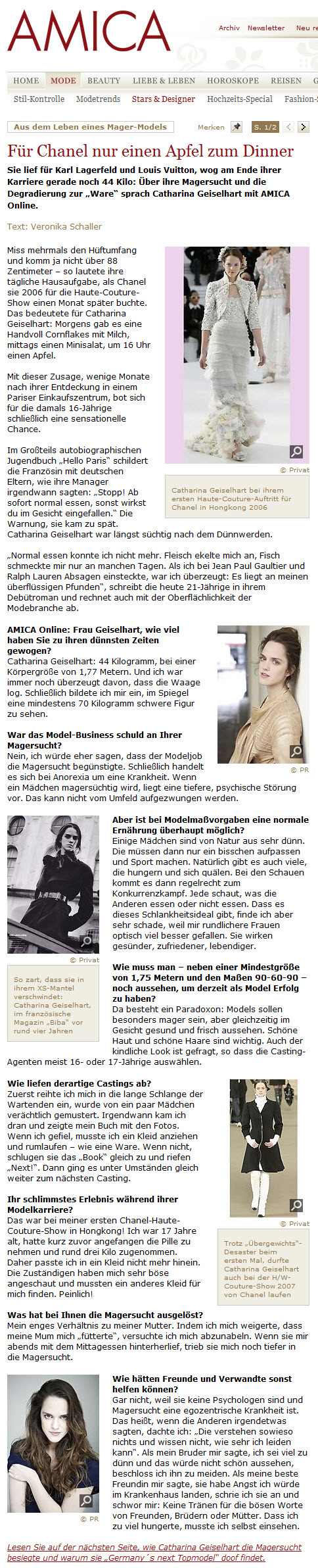 Amica Interview Teil 1