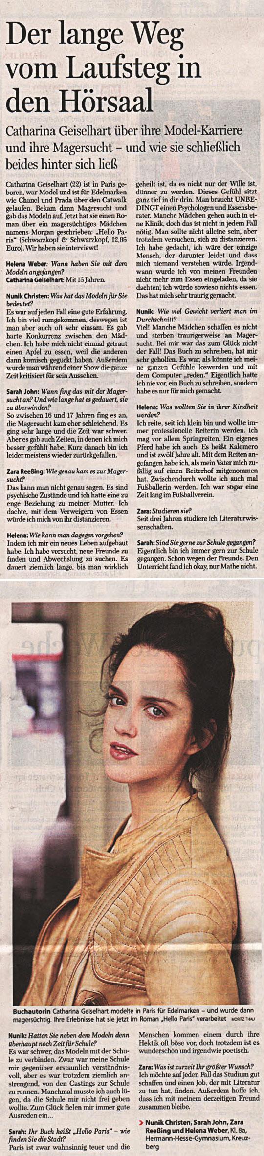 Interview in der Berliner Morgenpost vom 31.10.2011